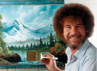 BobRoss Happy Painting klein